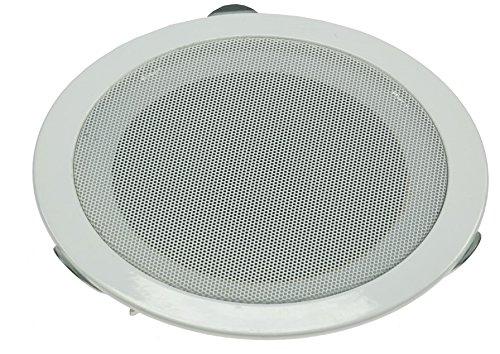 Einbau-Lautsprecher für Wand Decke Ø 179mm, 80 Watt Metallschutzgitter Halteklammern 8 Ohm Einfache Feder-Montage Weiß