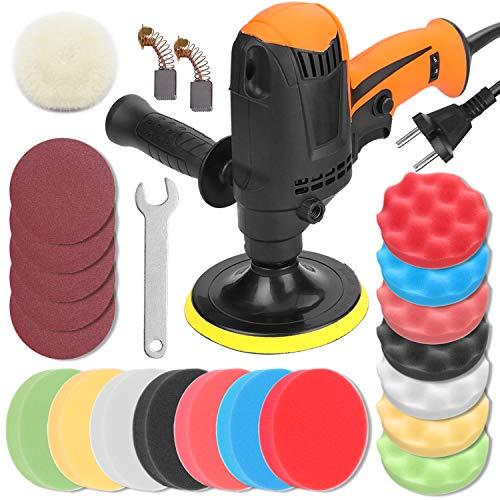 KKmoon 980W Poliermaschine 850-3200 U/min 6 Gänge Einstellbar Autopolierer Wachsmaschine Automobil Möbel Polierwerkzeug
