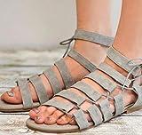 Bluelover Mujer Sandalias Lado Tie Empalme Gladiador Romano