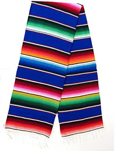 Leos Imports (TM) Sarape Serape Mexican Blanket XL 82' x 62' (Royal Blue)