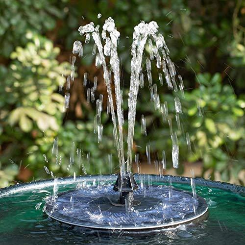 Solar Springbrunnen, 2,2W Solar-Teichpumpe mit 7 Effekten, Solar-Wasserpumpe, Solarbrunnen Solar schwimmende Fontäne Pumpe für Gartenteich Oder Springbrunnen Vogel-Bad Fisch-Behälter
