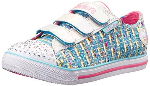 Skechers Little Kid (4-8 Years) Twinkle Toes: Chit Chat-Prolifics Light Blue Light-Up Sneaker - 2 M US Little Kid