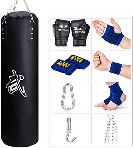 Sfeexun Boxsack Set Erwachsene, Heavy Duty Sandsack Boxen Hängend Box Sack Punching Bag mit Handschuhen, Kette, Deckenhaken(Nicht gefüllt)