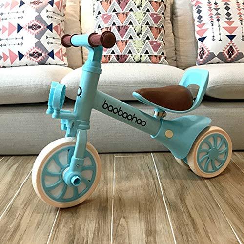 SXNYLY Equilibrio del Coche, Triciclo, Moto, Bicicletas, Equilibrio del Coche, 1.2 años de Edad, de Sexo Masculino y Femenino de Juguete Bebé de Cuatro-en-uno Niños (Color : UN)