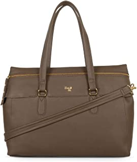Baggit Women's Synthetic Tote Bag (Beige) (Blendy)