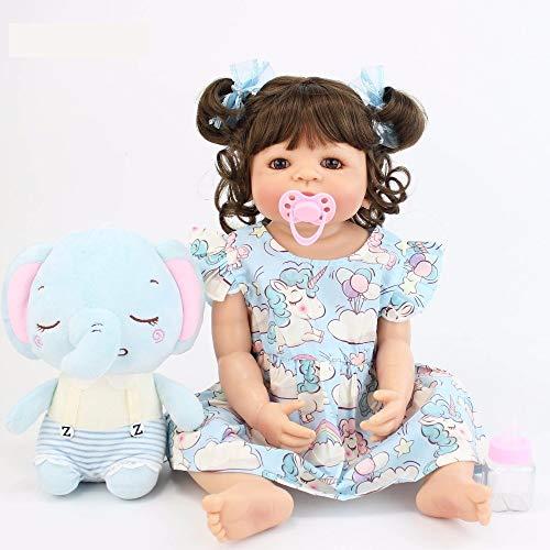 Boneca Bebê Reborn Júlia Corpo Inteiro Silicone P/ Dar Banho