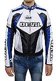 devil - chaqueta de moto para hombre tecnica man's jacket de piel sintética turquesa xxl