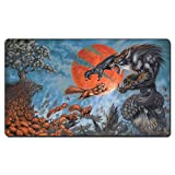 Wolf Fighting Squirrel Board Games Playmat, Magical Card The Games Play Mat Bag