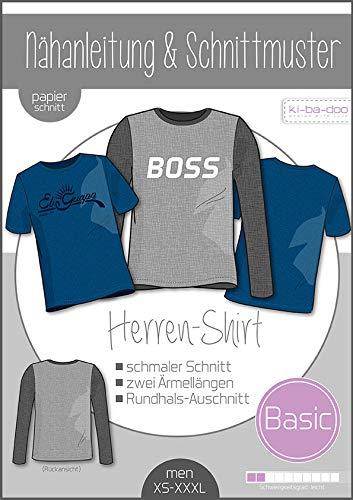 Schnittmuster kibadoo Basic Shirt Herren Papierschnittmuster
