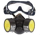 Químico Gas industrial Anti-polvo Pintura en aerosol Mascarilla Respirador + Gafas