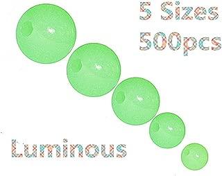 Toasis Luminous Glow Fishing Beads 5 Sizes 500pcs