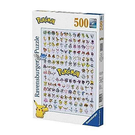 Ravensburger Puzzle 500 Piezas, Pokémon, Puzzle Adultos, Puzzle Pokemon, Rompecabezas Ravensburger de Alta Calidad