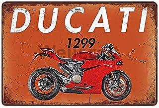 Deko7 Plaque en t/ôle 30 x 20 cm Ducati Corse Parking Only Voiture Moto