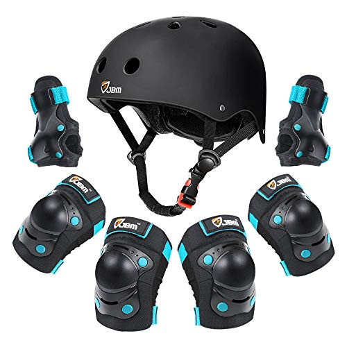 JBM Kids Protective Gear Set for 3-5 Years Kid Helmet Elbow Knee Pads with Wrist Guards for Roller Skating Cycling BMX Bike Skateboard Inline Skatings Scooter Riding Sports