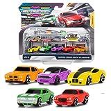 Micro Machines Starter Pack, Drag Race Classics - Incluye 5 vehículos, Coches de Carreras y Coches de policía - Posibilidad de Algo Raro - Micromachines Toy Car Collection