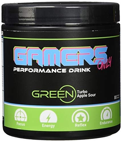 Gamers Only GREEN Turbo Apple Sour, 400 g (80 Portionen)
