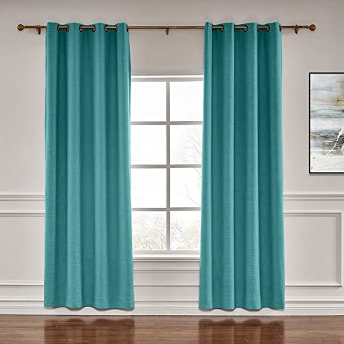 TWOPAGES Darkening Grommet Drapes Liz Faux セール特価品 with Curtains B オープニング 大放出セール Linen
