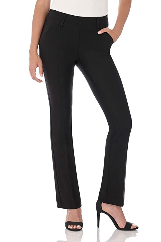 Rekucci Women's Ease in to Comfort Fit Classic Bootcut Pant w/Tummy Control yda1211987037873