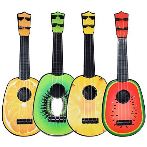Tomaibaby Niños Guitarra Ukelele Juguete Forma de Fruta Instrumentos Musicales Juguetes Educativos para Principiantes (Sandía Naranja Kiwi Piña)