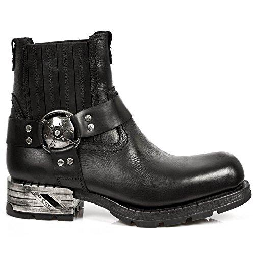 New Rock Herren M.MR007-S1 Kurzschaft Stiefel, schwarz001, 43 EU
