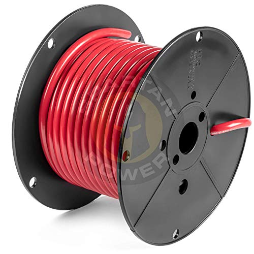 Spartan Power 50 Feet Black 4 AWG Battery Cable Made in The USA UL Listed 100% Pure Copper Wire