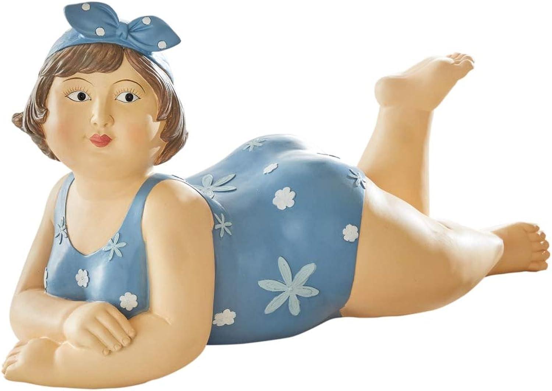 Purotay Deko-Figur Liegende Badelady - outdoorgeeignet - ca. B59 x T22 x H34 cm