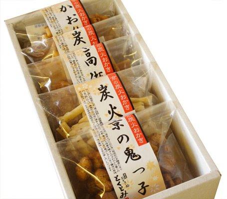 【京都・とくとみ】京の炭火おかき小箱セット(5点袋入り)(無添加・無着色料・化学調味料不使用)