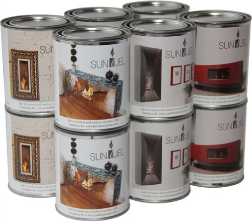 TerraFlameSunJel 13 Oz Gel Fuel Cans