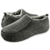 Men's Cozy Slippers, OOOH Yeah Soft Anti-Skid Solid Sherpa House Slippers for Indoor and Outdoor