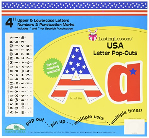 Barker Creek 4 H in Letter Pop-Outs, USA, Set of 255 - LL-1708