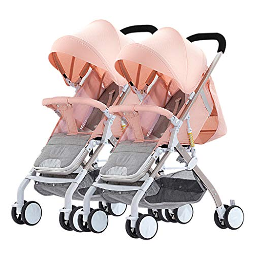 Lowest Price! JAD@ Twin Baby Strollers Can Sit and Detachable Ultra-Light Portable Four-Wheel Rubber...