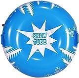 JHWSX Trineo de Nieve Inflable de 45 Pulgadas con asa, Trineo de esquí Engrosado Resistente al frío para niños y Adultos, Manguera de Nieve Resistente para la Nieve del Invierno