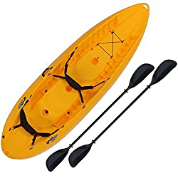This Light Two Person Sit On Top Kayak Is Made From A Durable Polyethylene Plastic Material Which Perfect For Kayaking And Paddling Through Rocky Water
