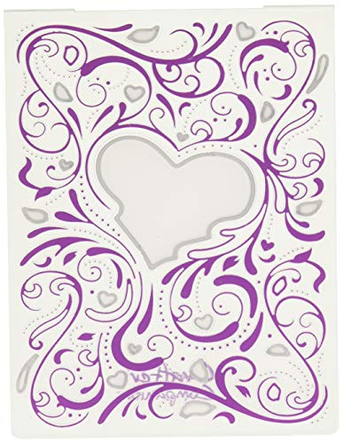 Die'sire Embossing Folder With Die, Clear/Silver