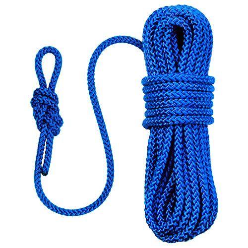 Paragon Seil, 10 m, mit Schlaufe, Farbe: Blau, 8 mm Durchmesser, schwimmendes Seil, wasserbeständig und UV-beständig, flexibel, robust und leicht, Magnetfischen, Segeln, Kajakfahren, Outdoor