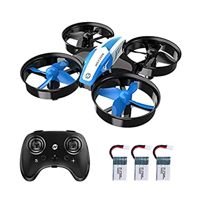 Holy Stone HS210 Mini Drone for Kids and Beginners RC Nano Quadcopter Indoor Small Helicopter Plane with Auto Hovering, 3D Flip, Headless Mode and 3 Batteries, Great Gift Toy for Boys and Girls, Blue by Holyton