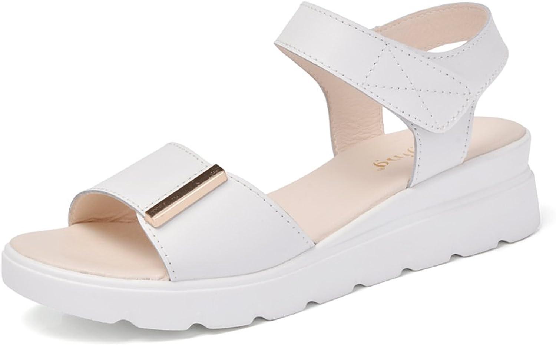 MET RXL Summer Lady Flat Sandal Simple,Anti-skidding,Middle Heel Sandals