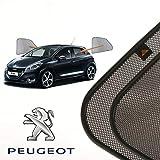 Cortinillas Parasoles Coche Laterales Traseras a Medida para Peugeot 208 (1) (2012-2019) Hatchback 5 Puertas