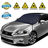 EzyShade Windshield Snow Cover + Bonus Item. See Size-Chart with Your Vehicle. Car Windshield Cover for Car, Truck and SUV. Thick Auto Winter Protector Keeps Ice, Frost and Snow Off. Standard (M) Size