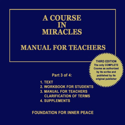 A Course in Miracles: Manual for Teachers, Vol. 3 Titelbild