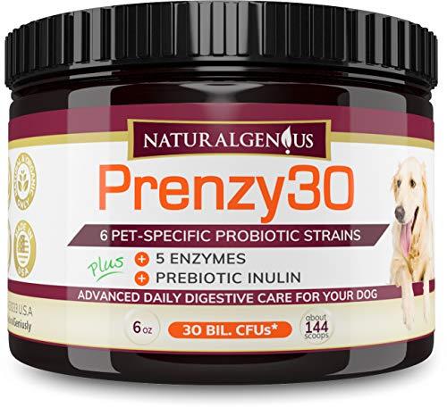 NATURALGENIUS Prenzy30 Probiotics & Enzymes | Fights Dogs Diarrhea, Constipation, Gas, Yeast...