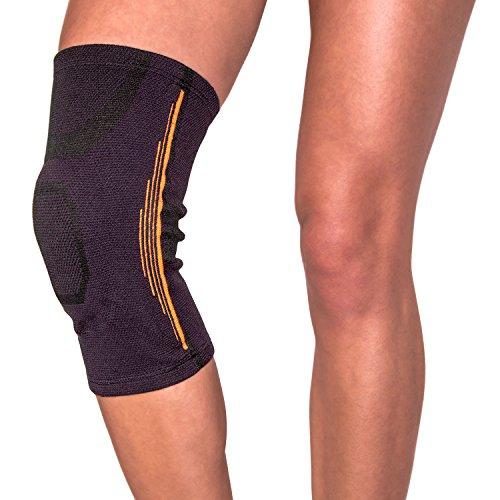 Atmungsaktive Kniebandage Knieorthese mit Gelkissen und seitlichen Spiralstäben zur optimalen Stabilisierung des Kniegelenks