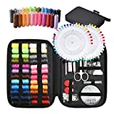 TUXWANG Premium Portable Sewing Kit - With 130 Piece Sewing Accessories and Carry Case - Includes Assorted Needles and 24 Reels of Thread