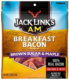 Jack Link's A.M. Breakfast Bacon JERKY Brown Sugar & Maple ( 1 PACK )