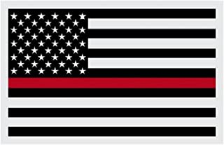 RedLine Flags 3 By 5 Foot Thin Red Line Flag Honoring The Courage of Our Firefighters, EMT, and Paramedics. Black, White And Red American Flag With Brass Grommets