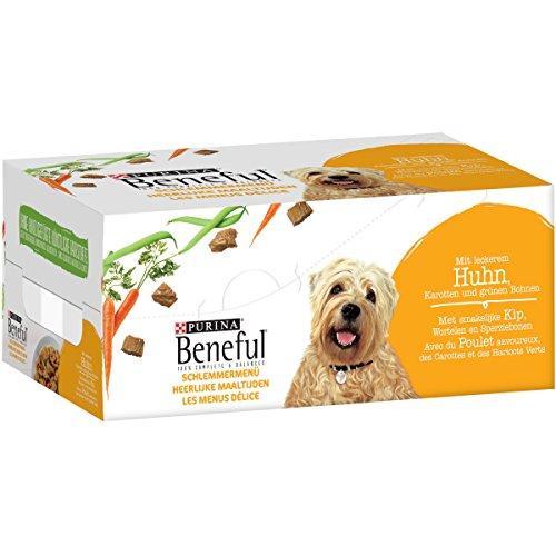 PURINA BENEFUL Schlemmermenü Hundefutter nass in Sauce, mit Huhn, 6er Pack (6 x 200g)