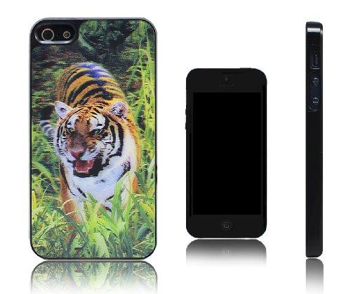 Xcessor Tiger Tigre 3D Holographic Custodia Rigida in Plastica per Apple iPhone SE / 5S / 5