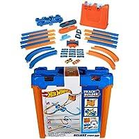 Hot Wheels Track Buider Caja de acrobacias Deluxe, accesorios para pistas de coches de juguete, multicolor (Mattel GGP99)
