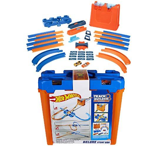 Hot Wheels Track Builder il Set delle Acrobazie Deluxe, Playset con Componenti Pista Assortiti, Giocattolo per Bambini 4+ Anni, GGP93