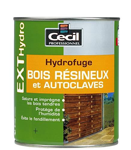 CECIL PRO Huile sol, Saturateur hydrofuge bois résineux et autoclavés, Incolore, 1L